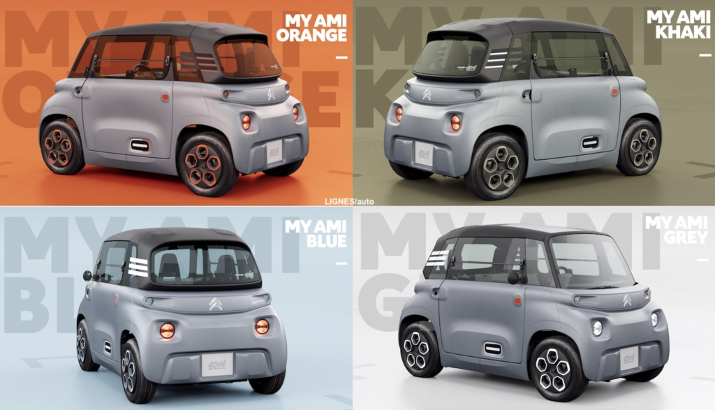 Màu sắc xe ô tô điện Citroen Ami