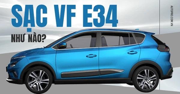 VF e34 sạc điện như thế nào?