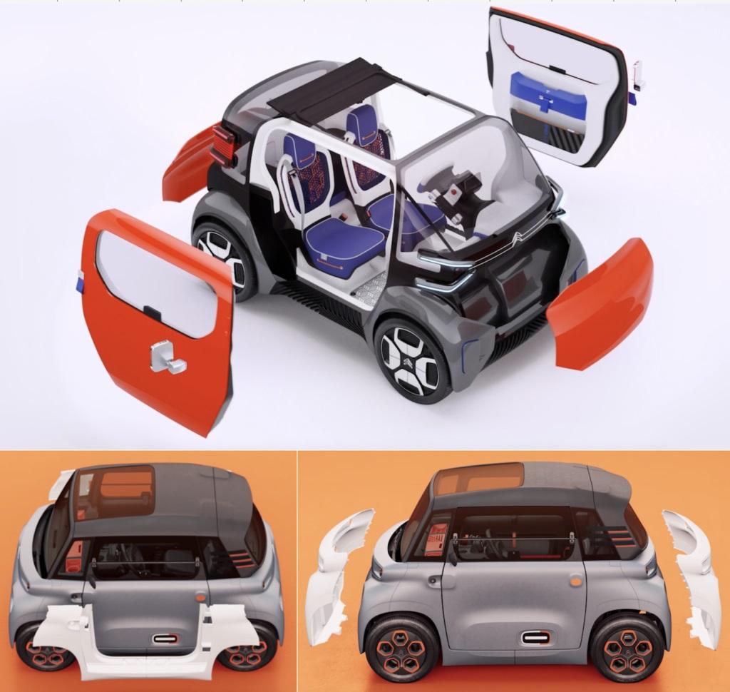 Thiết kế 3D xe Citroen Ami